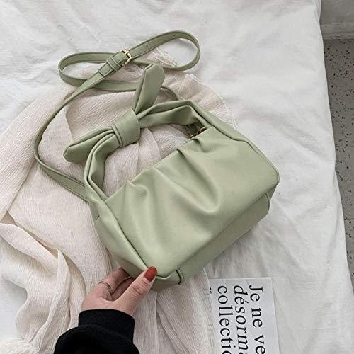 PANZZ Sacs fourre-Tout Femmes Sacs à Main Couleur Unie Sac à bandoulière bandoulière d'été Lady Bag, Vert, 21cmx13cmx11cm