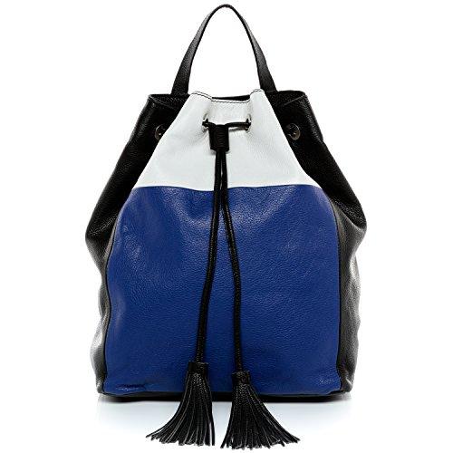BACCINI Rucksack echt Leder Napoli Backpack Tagesrucksack Lederrucksack Damen Mehrfarbig