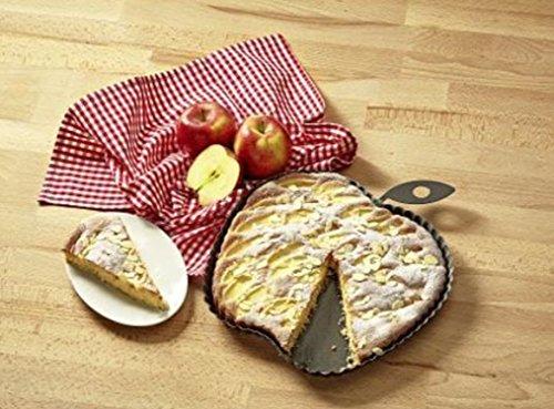 Backform Apfel mit Blatt Karbonstahl beschichtet 27x30x3 cm