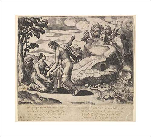 Master of The Die - 18x16 Art Print by Museum Prints - Venus Ordering Psyche to take Water from a Fountain Guarded by Dragons, from The 'Fable of Cupd and Psyche'