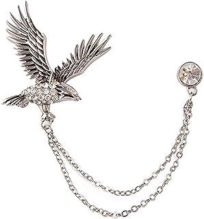 Ruikey Águila Volando Real Broche Lindo de Cristal Broches de bisuteria Broches para Vestidos Broches Mujer Ropa Creativo ...