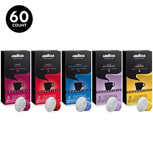 Lavazza Espresso Capsules Compatible with Nespresso Original Machines Variety Pack (Pack of 60)
