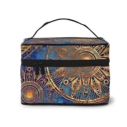 Vintage Travel Cosmetic Case Organizer Portable Artist Storage Bag, Multifunction Case Toiletry Bags for Women