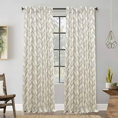 纱线染料织物标签顶部窗帘,农舍棉窗帘,窗帘2面板套装,超厚耐用的露台窗帘,逆转窗口面板,窗帘窗帘板,卧室窗帘,套2