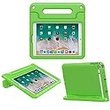 MoKo Funda para iPad 9.7 2018/2017-Portátil Cubierta Ligera Kids Protector Parachoque con Manija y Apple Pencil Soporte para Apple iPad 9.7' 2018/2017/iPad Air/iPad Air 2, Verde