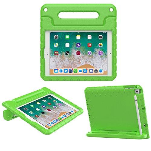 """MoKo Funda para iPad 9.7 2018/2017-Portátil Cubierta Ligera Kids Protector Parachoque con Manija y Apple Pencil Soporte para Apple iPad 9.7"""" 2018/2017/iPad Air/iPad Air 2, Verde"""
