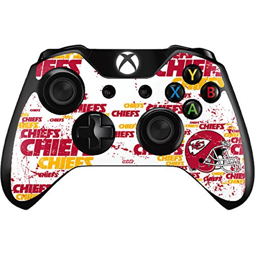 Skinit Decal Gaming Skin Compatible with Xbox One Controller - Officially Licensed NFL Kansas City Chiefs - Blast Design