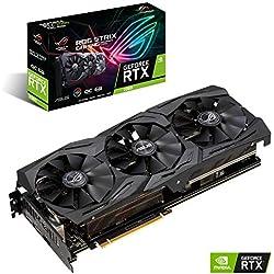 Asus ROG Strix GeForce RTX 2060 OC Edition 6 GB GDDR6, Scheda Video Gaming, LED RGB, Aura Sync e Dissipatore Triventola per Gaming, Alti Refresh Rate e VR