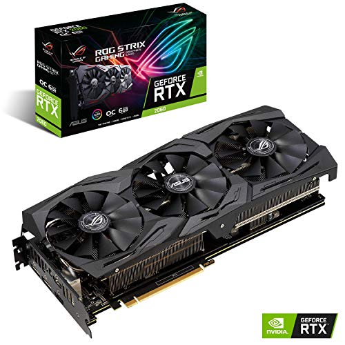 ASUS ROG STRIX NVIDIA GeForce RTX 2060 OC 6G Gaming Grafikkarte (PCIe 3.0, 6GB DDR6 Speicher, HDMI, Displayport, USB Type-C)
