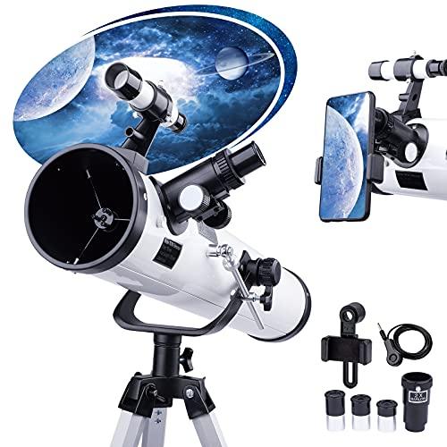 Telescopio per Principianti e Bambini - Apertura 76mm 700mm f/9...