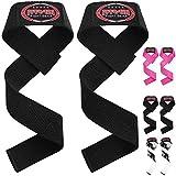 Frabi Wrist Straps Weight Lifting Wrist Straps Gym Wrist Support Powerlifting Wrist Strap Wrist Wrap Crossfit Lifting Wraps (Black)