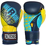 Ringside Youth IMF Tech Sparring Gloves, Navy/Yellow, 12-Ounce
