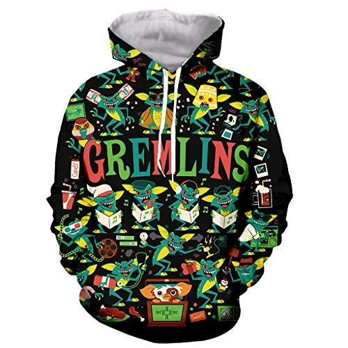 Gremlins dibujos animados divertidos nueva moda manga larga cremallera con estampado 3D / sudaderas con capucha/sudaderas/chaqueta/hombres/mujeres child-120