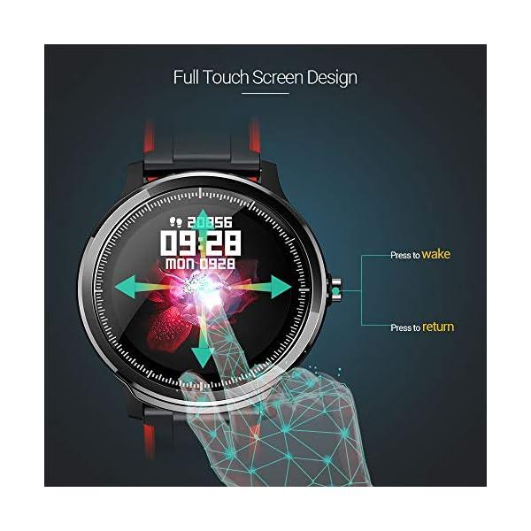 SmartWatch,Reloj Inteligente Impermeable IP68,Bluetooth Relojes Deportivos Pantalla t¨¢ctil completa para monitor… 8