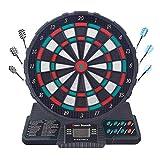 Tableros electrónicos Juego de Tablero electrónico Pantalla de puntuación LCD con 6 Dardos para Juegos de Fiesta