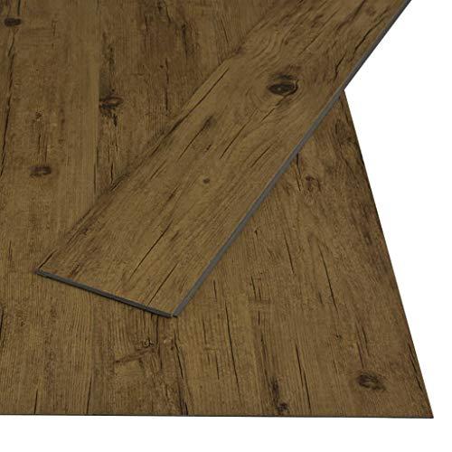 vidaXL PVC Klick Dielen Bodenbelag Rutschfest Vinylboden Vinyl Boden Fußboden Designboden Dielenboden Landhausdiele 3,51m² 4mm Naturbraun