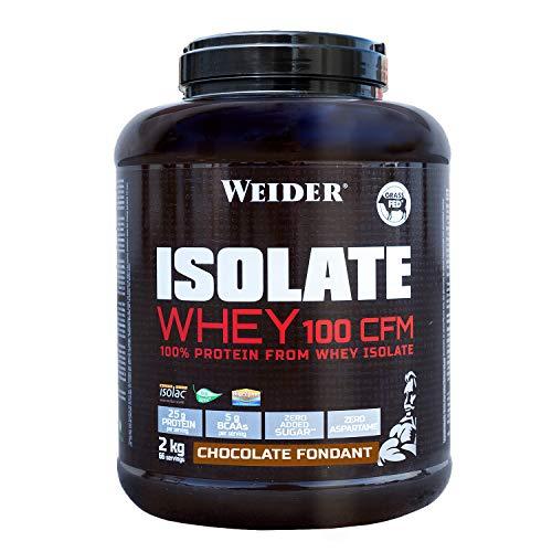 WEIDER Isolate Whey 100 CFM, hochwertiges Molkenproteinisolat, Schokolade Eiweißpulver, 2kg, Schwarz, 2 kg