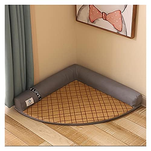 xiaofeng214 Cojín Dog Mat Supplies Colchón para Perros Colchón Detachable y Lavable Summer Cool Nest Cat Mat Cama Cama para Perro Soft Mascota Accesorios (Color : Style 3, Size : 58 42 8)