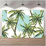 Fondo tropical para fotos de árbol de coco y palma, para recién nacidos, para cumpleaños, para fotografía, vinilo de 1,5 x 2,1 m