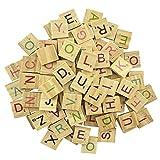 MANSHU 600 Pcs Wood Colorful Scrabble Tiles Letter Tiles Wood Pieces for for Crafts, Pendants, Spelling, Scrapbooking, Decoration