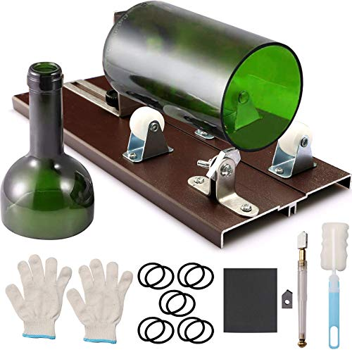 Glass Bottle Cutter Glass Cutter for Bottles for Cutting Wine, Beer, Mason Jars, Whiskey, Round, Square, Oval Bottles, Bottle Cutter & Glass Cutter Bundle for DIY Crafts Project
