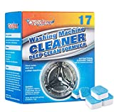 Washing Machine Cleaner Tablets for Top and Front Loading Washers Deep Cleaning Remover - 17 Tablets Included
