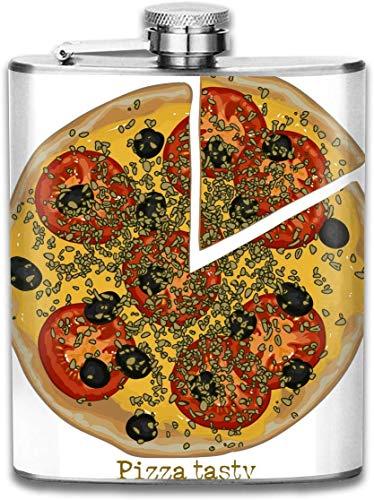 Tomaten Gemüse Pizza Tasche Auslaufsicher Schnaps Flachmann Alkohol Flagon 304 Edelstahl 7 Unzen Geschenkbox im Freien