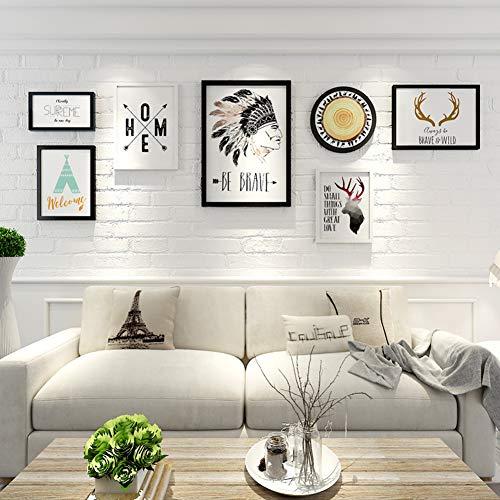 ZXZ-GO Simple Grande Taille créative Peinture décorative Combinaison Salon canapé Murale Grand Mur décoration personnalisée Pendentif Cadre Photo