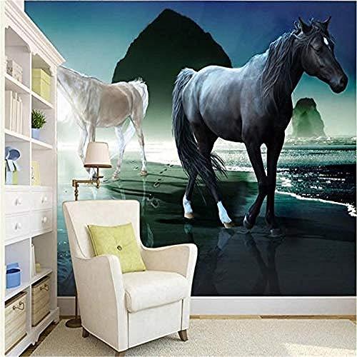 XHXI 3D Murals for Living Room Wallpaper for Walls 3D Custom Magnificent Horse Murals Study Living Room Decorative Backd 3D Wallpaper Paste Living Room The Wall for Bedroom Mural border-150cm×105cm