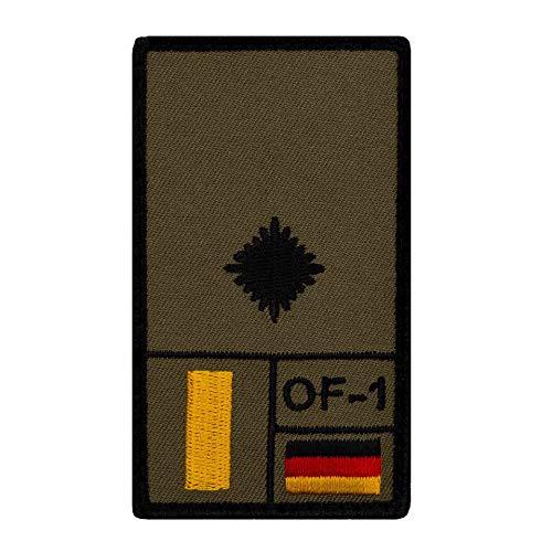 Café Viereck ® Leutnant Bundeswehr Rank Patch mit Dienstgrad - Gestickt mit Klett – 9,8 cm x 5,6 cm