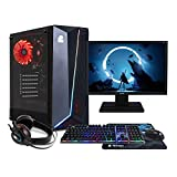 NITROPC - PC Gaming Pack Bronze Rebajas | PC Gamer (CPU Ryzen 3400G 4/8 x 4,20Ghz (Turbo) | Gráfica Vega 11 2GB) + Monitor 21,5' + Teclado + ratón + Cascos | RAM 16GB | M.2 512GB | HDD 1TB