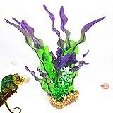 YY LIU Planta Acuario Durable Plantas Naturales para Acuarios Plantas De Acuario Artificial para La DecoracióN Tanque Reducir El EstréS Purple,14.17inch