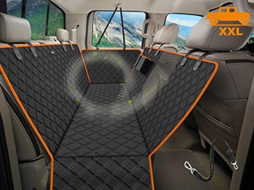 iBuddy XXL Dog Seat Cover for Trucks with Mesh Window Waterproof Dog Truck Hammock Durable Back Seat Cover for Full Size Pickup Trucks Machine Washable X-Large Truck Pet Seat Cover for Dodge Ram 1500