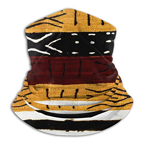 Bandana Face Mask Cover Dust Wind Neck Gaiter Headwear Face Scarf Ornate African Symbol Texture Black
