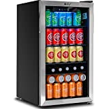 Deco Chef Beverage 118-Can Beverage Refrigerator and Cooler with Glass Door, Digital Temperature Gauge, Cooling Convection Fan, Simple Controls, 3.2 Cubic Feet, Four Adjustable Shelves