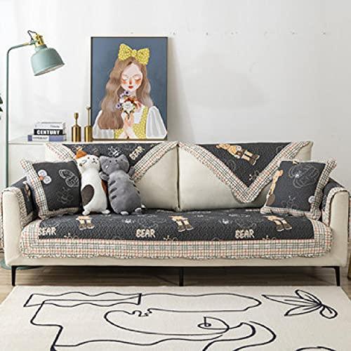 KENEL Kombination Couchbezug, Sofahusse Couch Auflage Cover Sofa-Kissen-Handtuchabdeckung für alle Jahreszeiten-70 * 210 cm_Gitterkante-Verkauft in stück