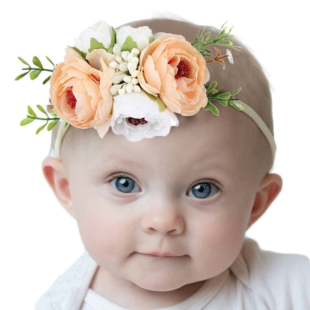 Girls Floral Headbands for Newborn Infant Toddler Baby Shower Cute Photo Accessories