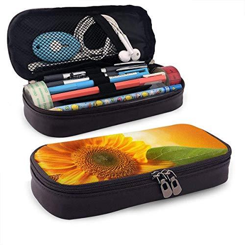 XCNGG Estuche para lápices neceser Sunflowers PU Leather...
