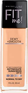 Maybelline New York Fit Me! Foundation Dewy + Smooth SPF 18, Sun Beige [310] 1 oz ( Pack of 2)