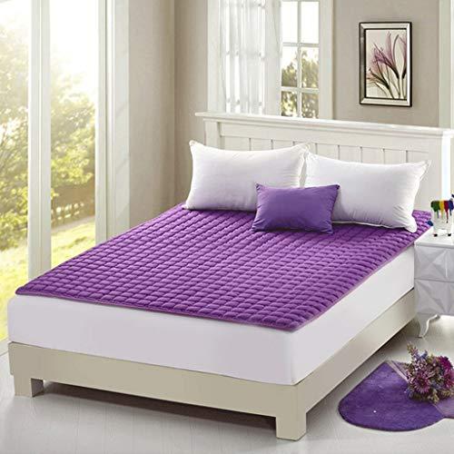 HEJINXL Polyester matras, gewatteerd hoeslaken opvouwbare crawling mat mat grond slaapmat
