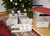 Weihnachtskugel Box, Christbaumkugel Box, Christbaumschmuck und Deko (61 Liter) - 5