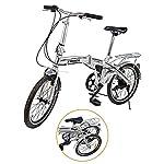 "51viTmadGBL. SS150 Ridgeyard 20"" 6 velocità argento pieghevole pieghevole regolabile City Bike biciclette scuola sport Shimano"