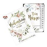 Ideen mit Herz Meilensteinkarten | Meine Schwangerschaft | 50 Karten | 10,5 cm x 14,8 cm | inkl. Maßband 2 m | ideal als Geschenk zur Schwangerschaft