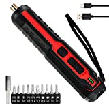 Electric Screwdriver Aceshop 3.6V 2.0Ah Cordless Screwdriver Set 5N·m Max Torque Mini Electronic Screwdriver Kit with 11 Accessories, LED Work Light, Household Battery Rechargeable Drill Driver Power