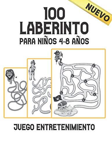100 Laberinto para Niños 4-8 años Juego Entretenimiento Nuevo: Laberinto Rompecabezas Libro de Actividades para Niños y Niñas divertido y fácil 100 laberintos desafiantes para todas las edades