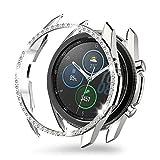 MJRom Coque de protection pour Samsung Galaxy Watch 3 (2020) Argenté 41 mm