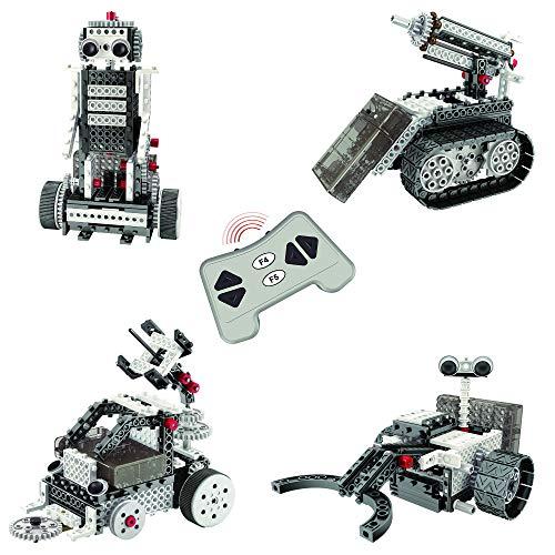 Think Gizmos Ingenious Machines Mondforscher-Set - Roboter Kinder Spielzeug - Roboter Bausatz- 4 Mod-ellbaukasten - Roboter - Zwei Mondrover – Raketenfahrzeug - TG801
