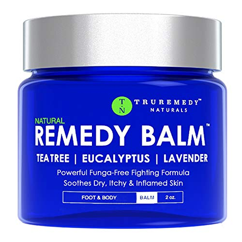 Remedy Tea Tree Oil Balm  Cream for Athletes Foot Jock Itch Ringworm Eczema Nail Issues Rash Skin Irritation  Ointment for Dry Itchy Skin  Foot amp Body Balm with Lavender amp Eucalyptus  2 Oz