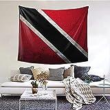 AOOEDM 100 Polyester Flagge von Trinidad & Tobago Tapisserie, Wandbehang Decke Tagesdecke Strandtücher Picknickmatte Wandteppich Kunst für Wohnzimmer Schlafzimmer Wohnheim Dekor in 60x51 Zoll