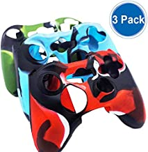 BRHE Cool Silicone Protector Cover Case Anti-Slip Soft Comfort for Xbox 360 Controller Skin Camo (3 Colors Package) (Three Pack)